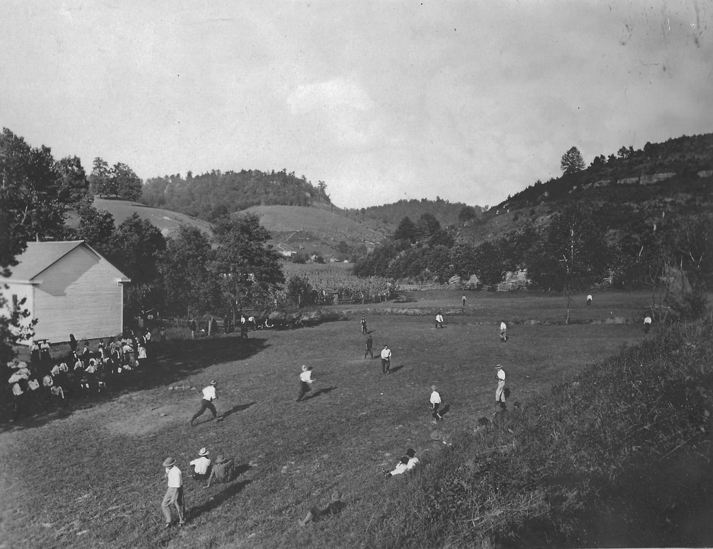 baseball, West Virginia, reunion, Rocky Fork, Lewis County, Mick, Burnt House