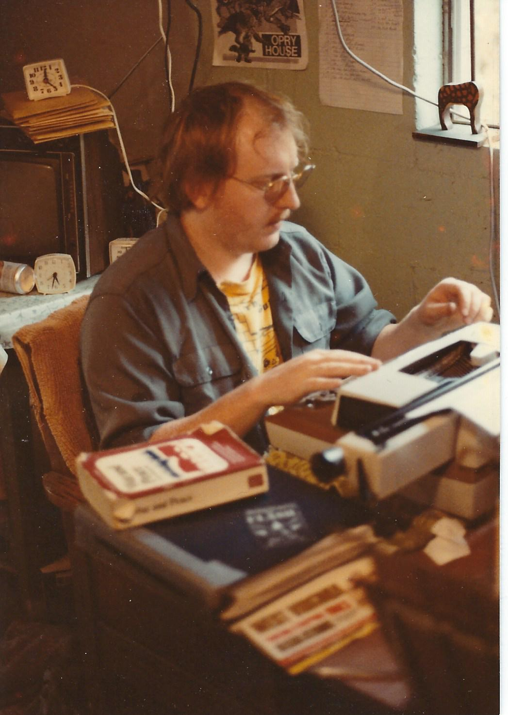 Lowell Mick White, writer, writer at work
